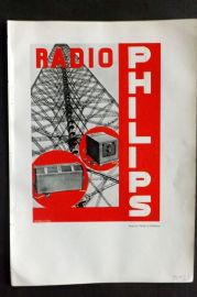 The Studio 1931 Vintage Art Deco Print. Poster for Philips of Eindhoven